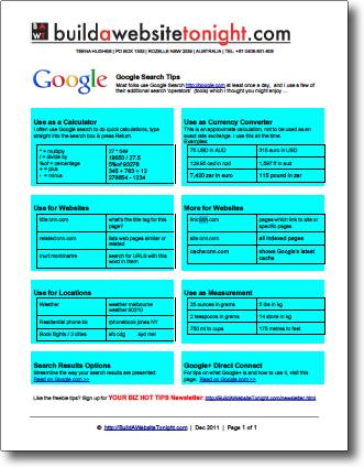 google search tips pdf 315x408 Google Search Tips for everyone